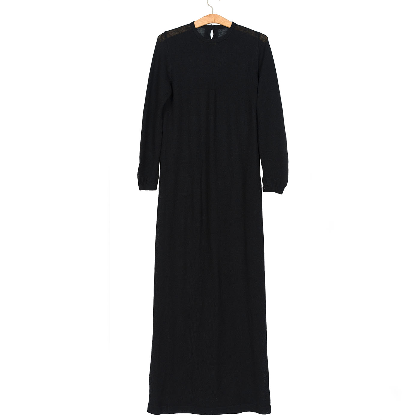 b5b5cb15740 Vestido Largo – Long Alpaca Wool Dress. Black « chaleca.com